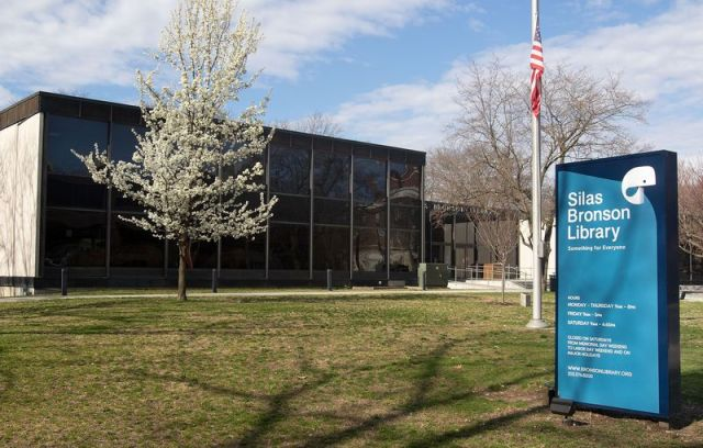 WATERBURY CT. - 14 April 2020-041420SV01- With the Silas Bronson Library closed until further notice, director Raechel Guest is taking the opportunity to complete some minor renovation projects that couldn't get don with a lot of people around. Steven Valenti Republican-American