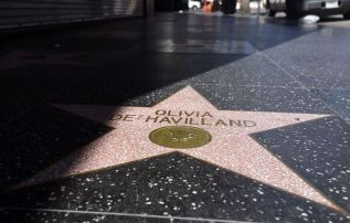 Olivia de Havilland's star on the Hollywood Walk of Fame (Associated Press)