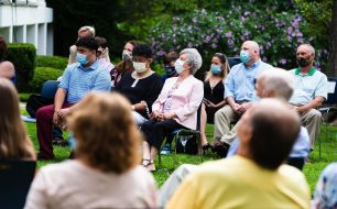 All guests had their temperatures checks and wore the required masks during graduation ceremonies Friday at Chase Collegiate in Waterbury. Jim Shannon Republican-American