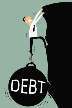 Image result for Debt dependency cartoons - sri lanka