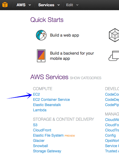 AMS Service Compute Select EC2