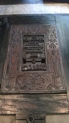 A metal book-plate