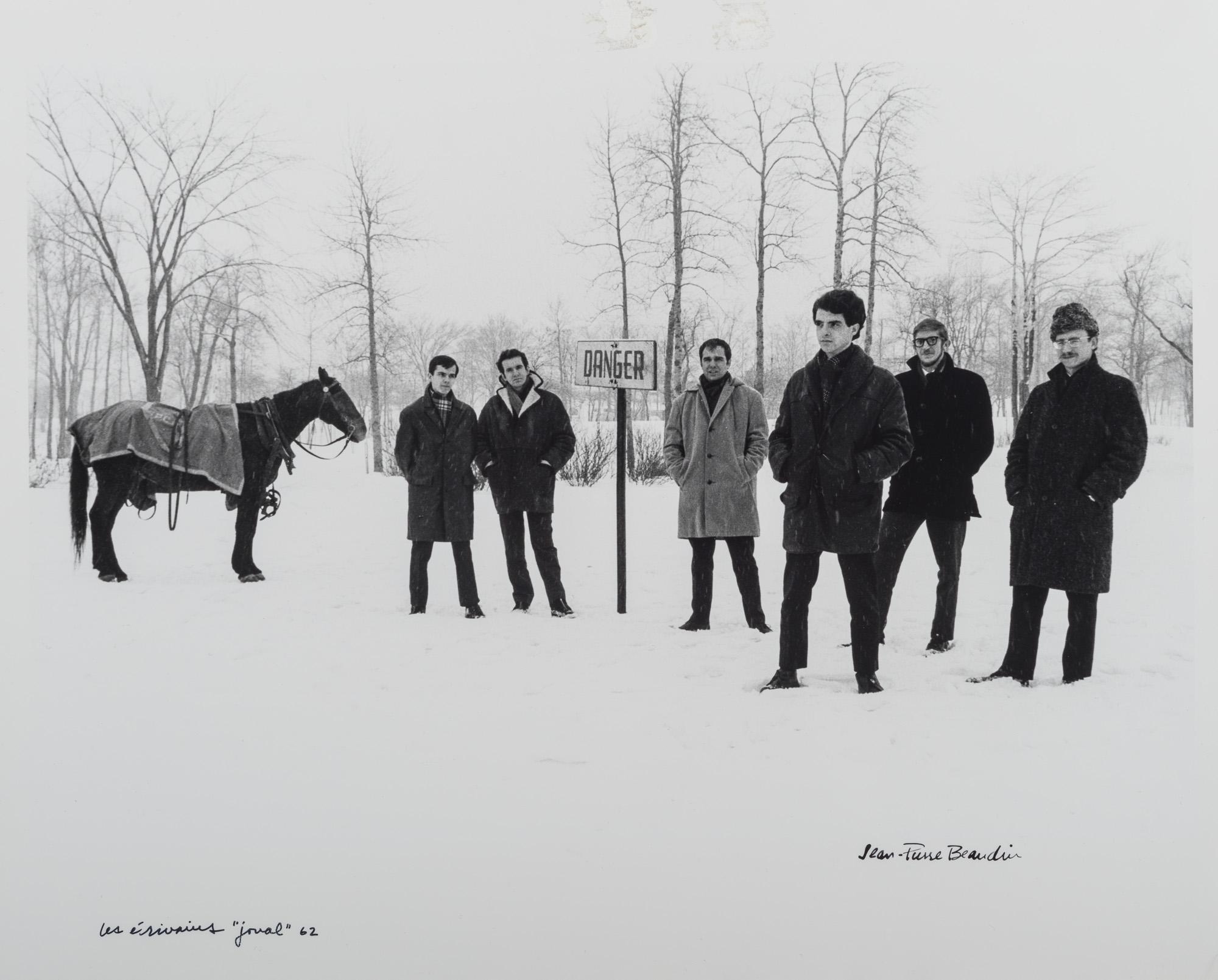 Les écrivains « joual » 62, André Major, Gérald Godin, Claude Jasmin, Jacques Renaud, Laurent Girouard, Paul Chamberland, [1963?].