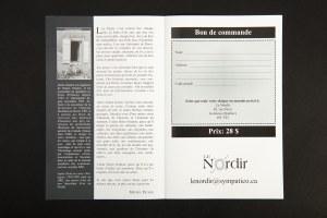 Denis Gratton. Aux quatre vents. Dépliant Éditions Nordir.