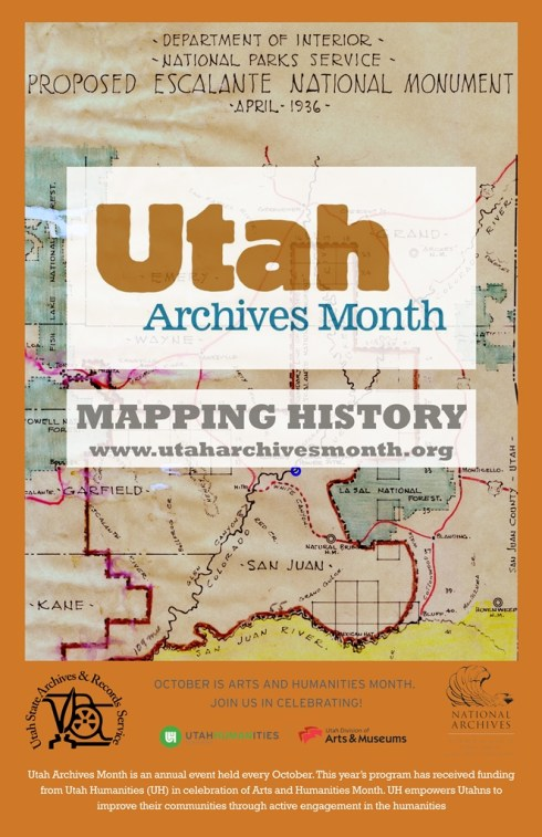 2015 Utah Archives Month Poster