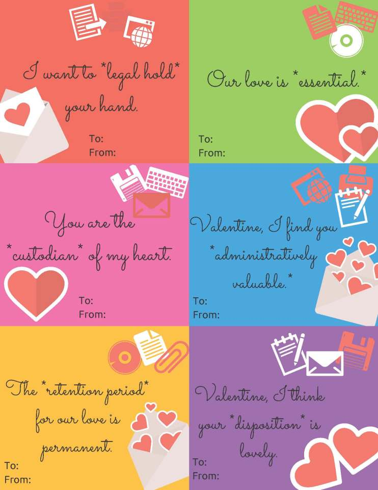 6 valentines using records management language