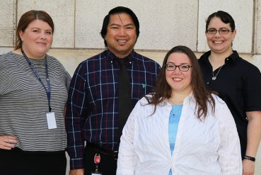 Photo of the RIM Specialists: Heidi Steed, Sonny Dulfo (new manager), Rebekkah Shaw, and Renée Wilson.