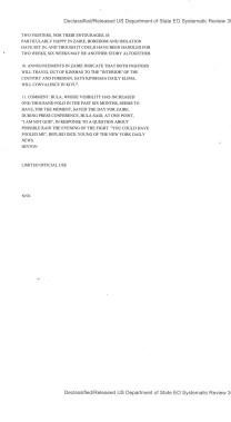 Telegram from American Embassy Kinshasa re: Sehind the Scenes of the Ali-Foreman Postponement, 9/18/1974