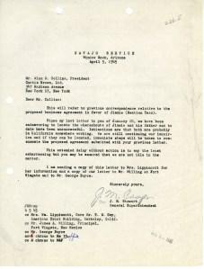 J. M. Stewart to Alan C. Collins; April 5, 1945; Decimal Files, 1936-1942 (NAID 7863878)