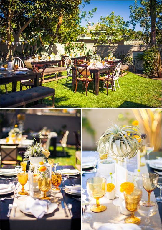 Barbs Vintage Yellow Gray Bridal Shower Featured On The