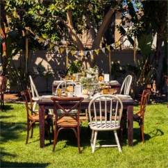 Outdoor French Bistro Chairs Modern Bar Barb's Vintage Yellow + Gray Bridal Shower Featured On The Wedding Chicks | Archive Rentals