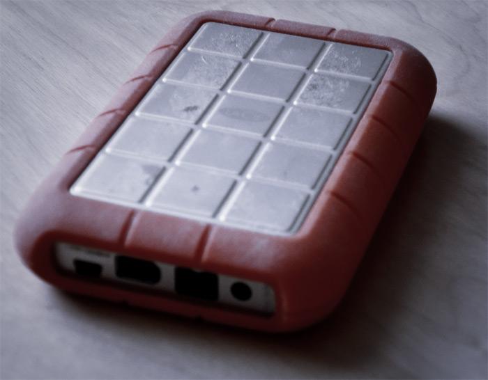 An external, or portable, hard drive.