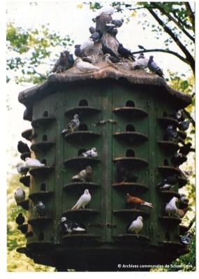 Le pigeonnier du parc Josaphat à Schaerbeek (vers 1990)