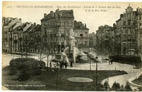 La fontaine de la place des Bienfaiteurs à Schaerbeek (vers 1920)