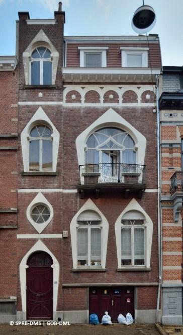 Maison rue Émile Banning n°48 (Ixelles,) architecte: William Jelley | Huis Émile Banningstraat nr. 48 (Elsene), architect: William Jelley - photo : © Monuments & Sites – Bruxelles