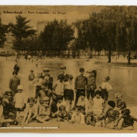 La plage au parc Josaphat, carte postale, sd, Fonds iconographique, Archives communales de Schaerbeek | De strand in het Josaphatpark, postkaart, sd, Iconografische verzameling, Gemeentearchieven van Schaarbeek