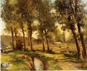 Jenös Karpathy, « La vallée Josaphat », Kunstcollectie van de gemeente (inv. 256)
