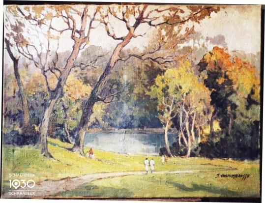 J. Van Crombrugge, « Le parc Josaphat », Kunstcollectie van de gemeente (inv. 846)