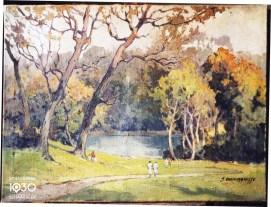 """J. Van Crombrugge, """"Le parc Josaphat"""", Collection artistique communale (inv. 846)"""