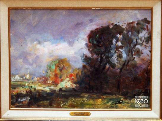 """Armand Jamar, """"Le parc Josaphat"""", Collection artistique communale (inv. 1125)"""