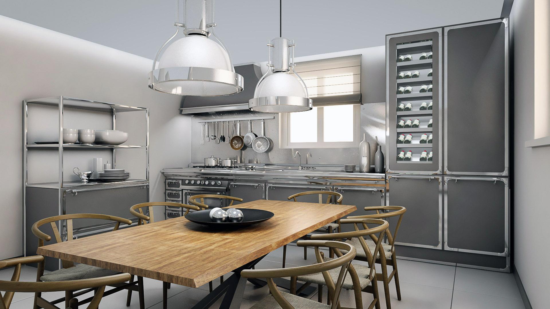 Officine Gullo Kitchen  ArchiViz
