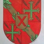 35. Diseño realizado por M. Navarro para el expediente de adopción del escudo heráldico municipal
