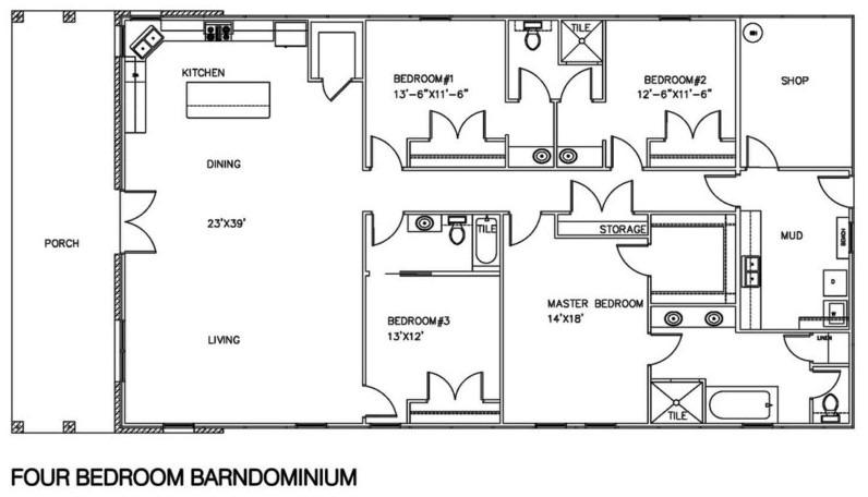20+ Barndominium Floor Plans, Metal Building Floor Plans