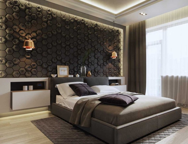 Beehive-Tiled Accent Wall