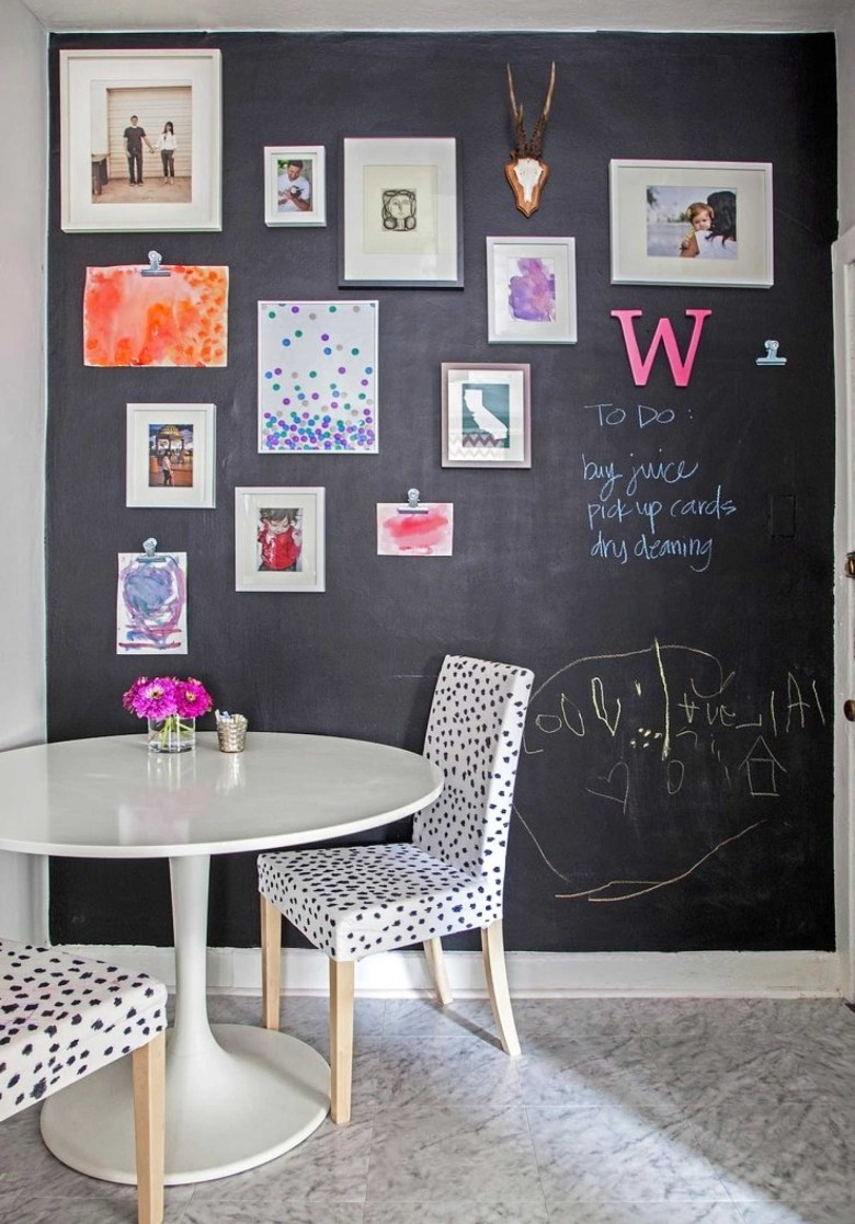 Hard-Working Chalkboard Accent Wall