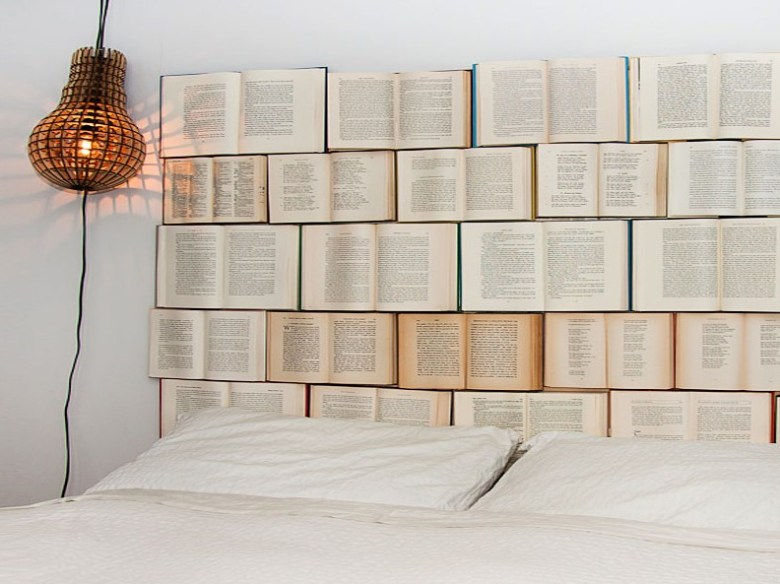 DIY Headboard Ideas from Recycled Books
