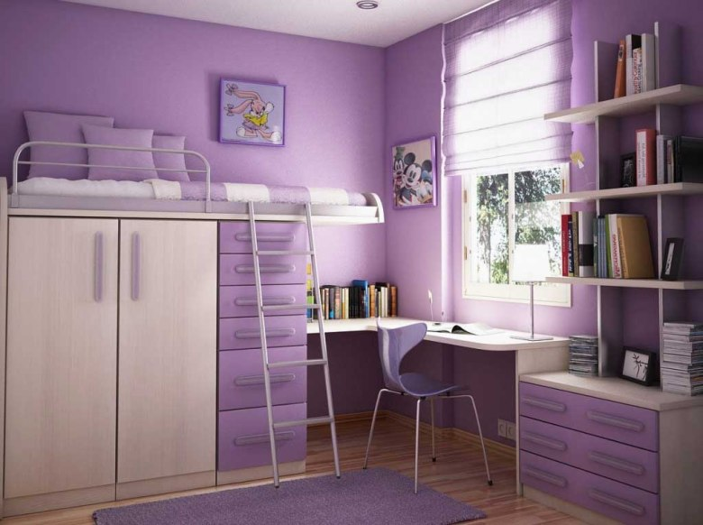 Loft Bed for Girls' Limited Space