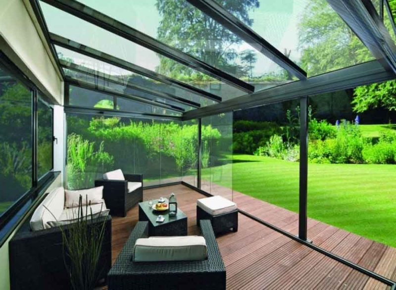 Tempered Glass Patio Roof