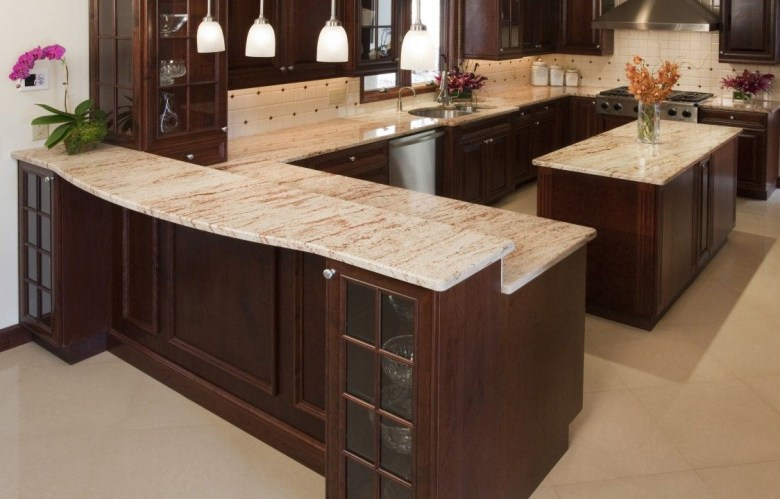 Shivakashi Pink Granite Kitchen Countertop