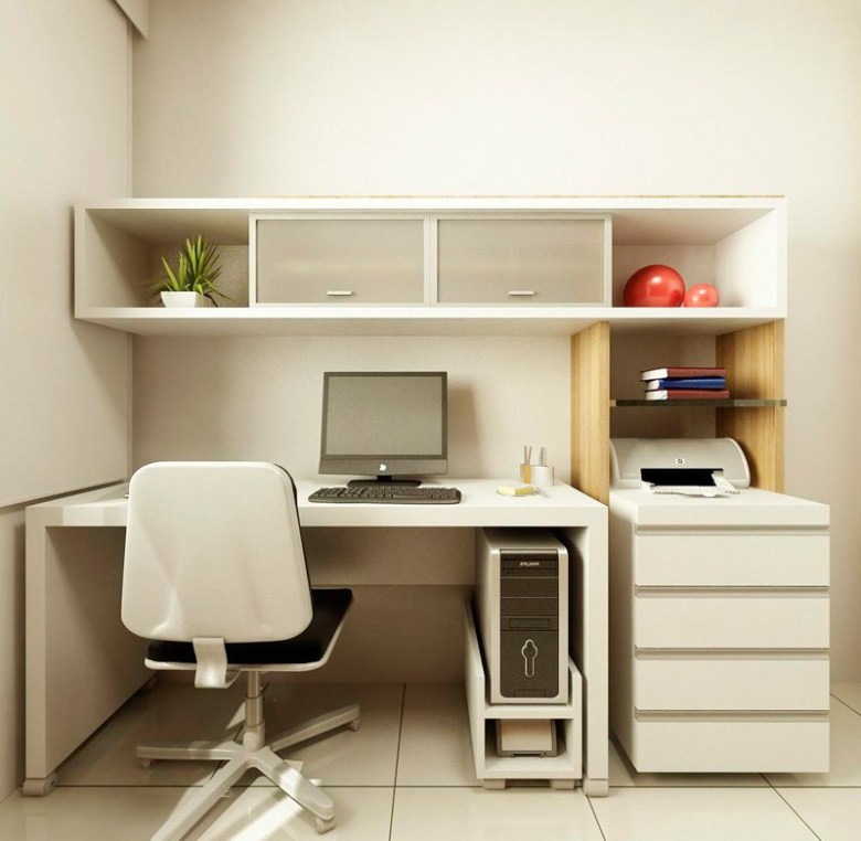 White Home Office Idea