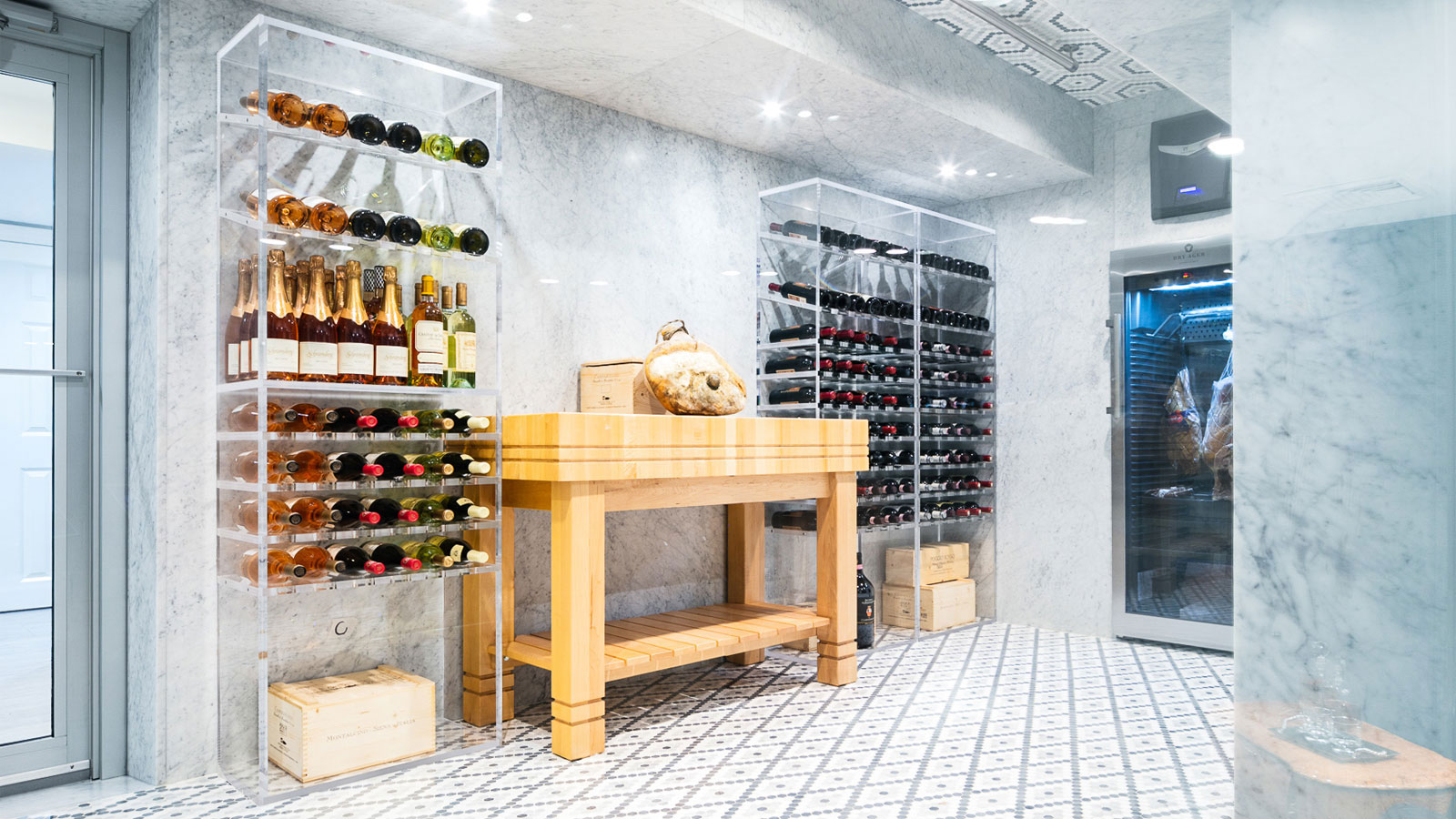 custom acrylic wine cellars