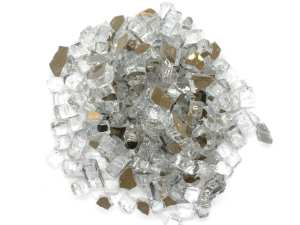 fire glass silver reflective for fire pits and fire tables top