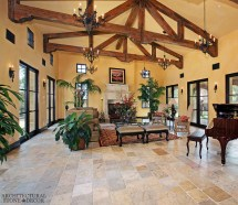Tuscan Style Living Room Floor