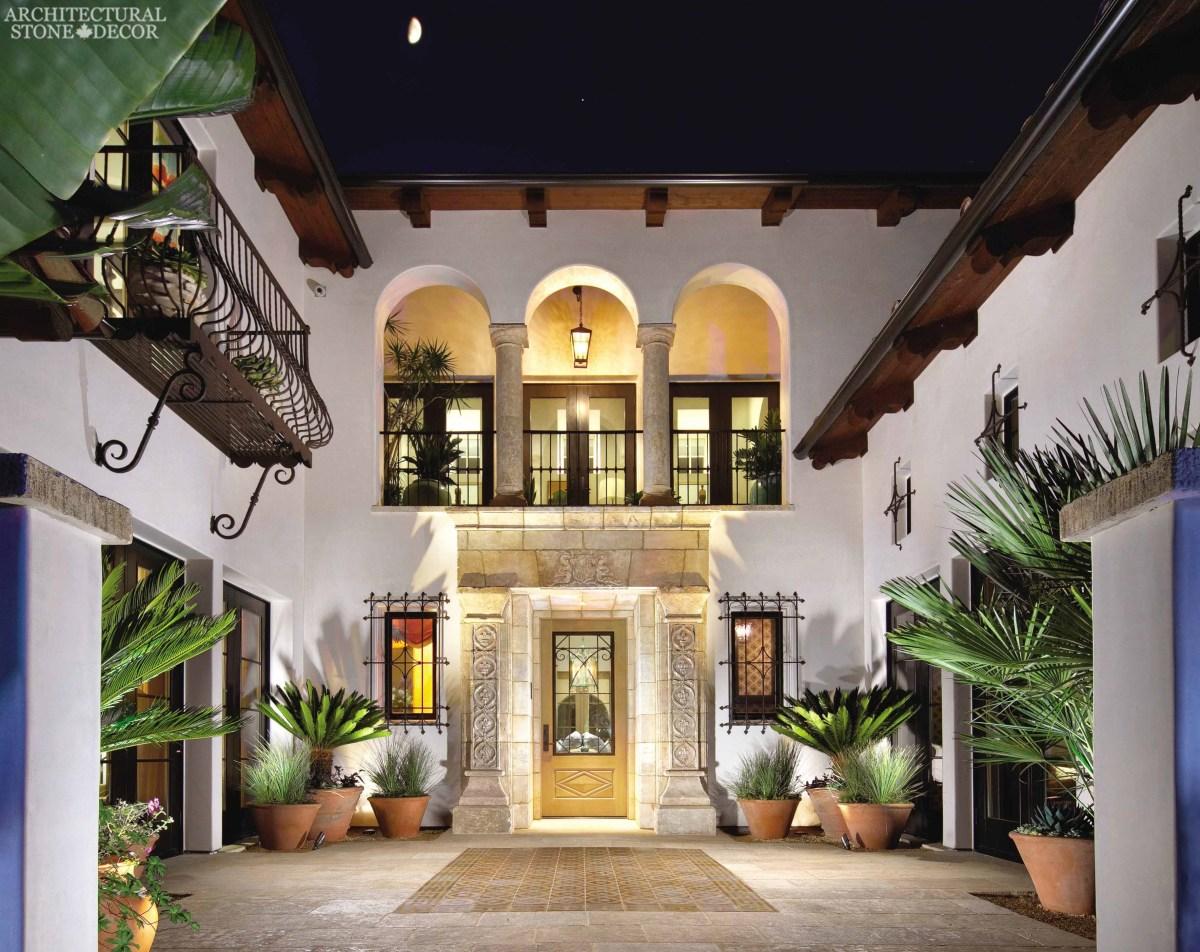 Italian Courtyard House Plans