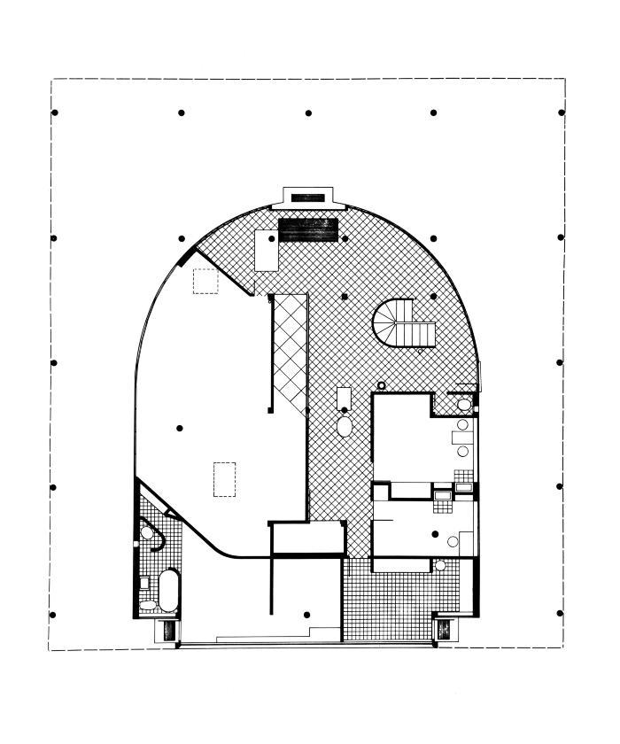 La Villa Savoye Le Corbusier : villa, savoye, corbusier, Cooper, Union, Archive, Student, Project, Analysis:, Corbusier,, Villa, Savoye, [ARCH_131_LibeskindDaniel_1967-68X]