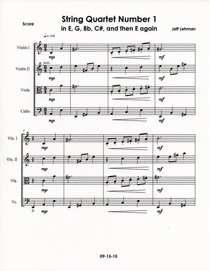 String Quartet Number 1 p1
