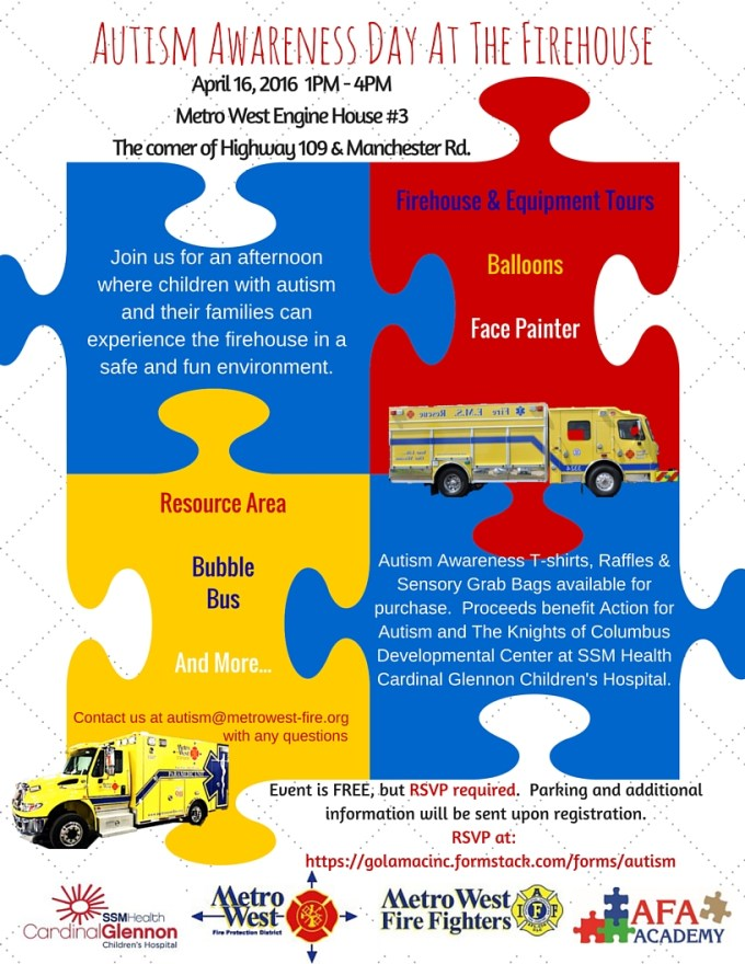 Autism Awareness Day At The Firehouse