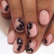 1001 ideas nails with rhinestones