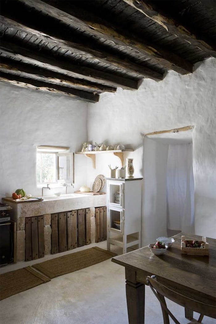 Small White Country Kitchen