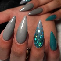 Long Sharp Pointed Nails - NailArts Ideas