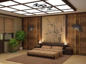 bedroom decor japanese wall inspired cherry master bed blossom bamboo creative antique round bonsai trees ceiling fans looking beige tree