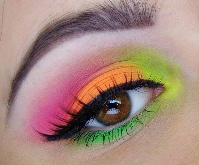 Pink And Yellow Eye Makeup Makeupview