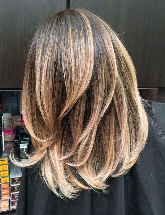 Medium Length Dark Brown Hair With Blonde Highlights Makeupsite