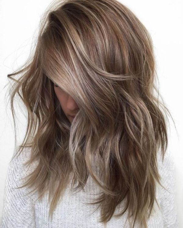 White Blonde With Brown Highlights Hair Coloring