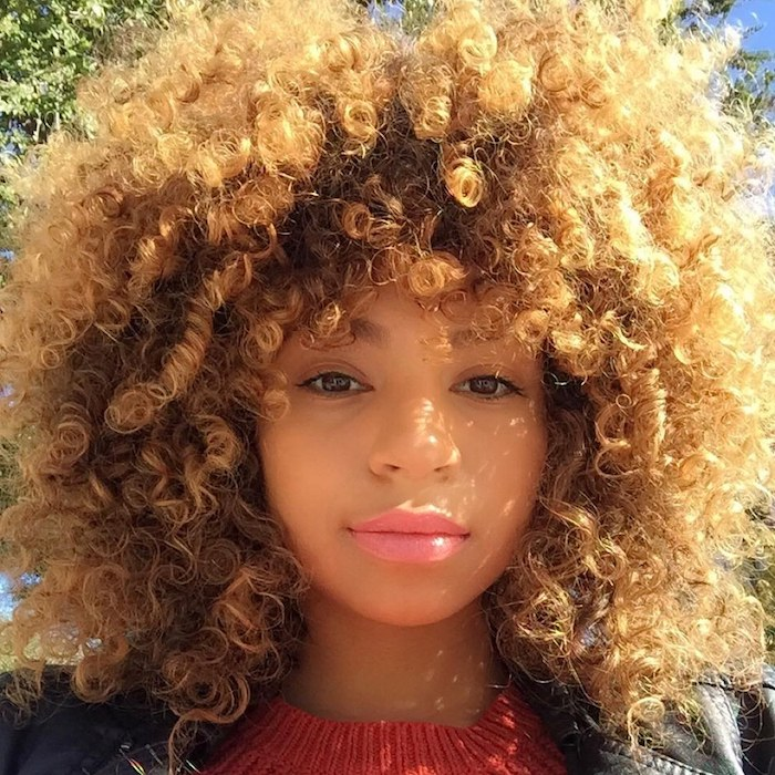 Mount And Blade Natural Curly Hair With Blonde Highlights