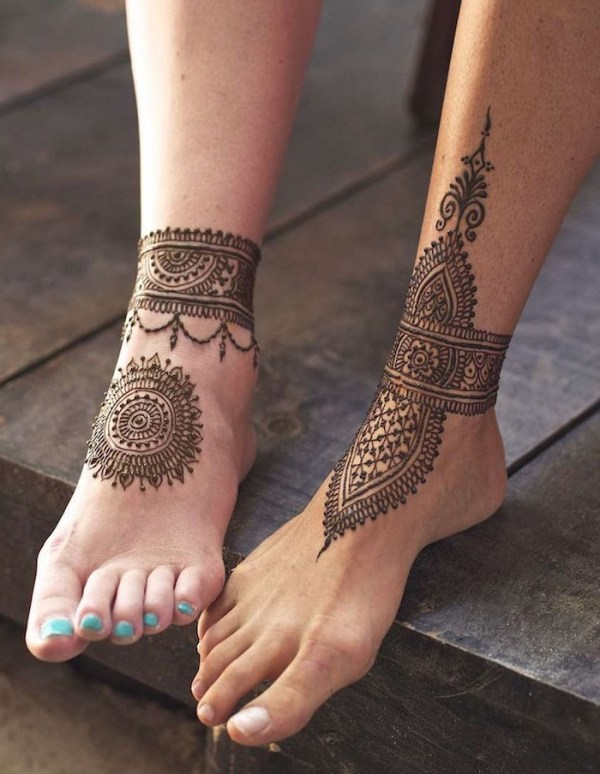 20 Henna Ankle Band Tattoos Ideas And Designs